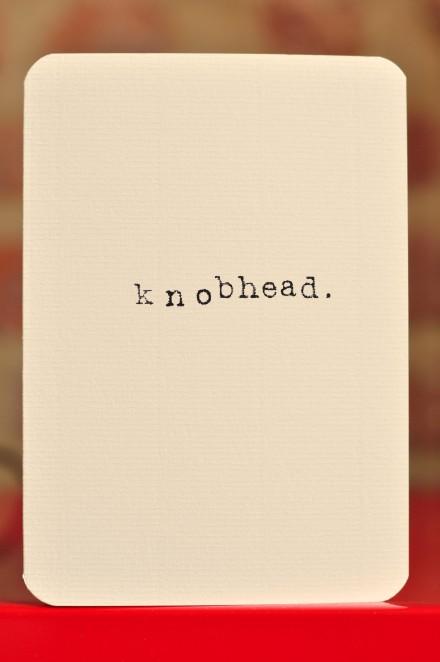 Knobhead copy