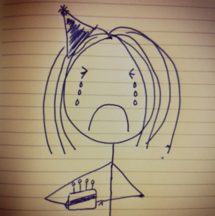Mardy's Birthday Tears
