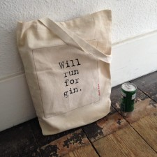 Will Run For Gin Tote FB